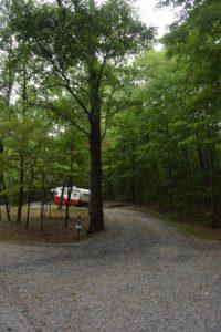 retro camper campsite