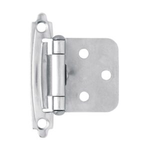 chrome self closing overlay hinge