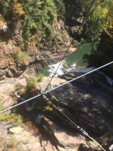 from tallulah gorge suspension bridge