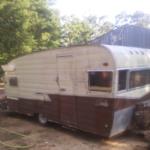 abandoned red shasta airflyte camper trailer 2012 05 23