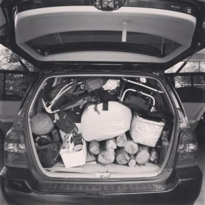 packed highlander for camping