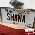 personalized license plate retro camper 2