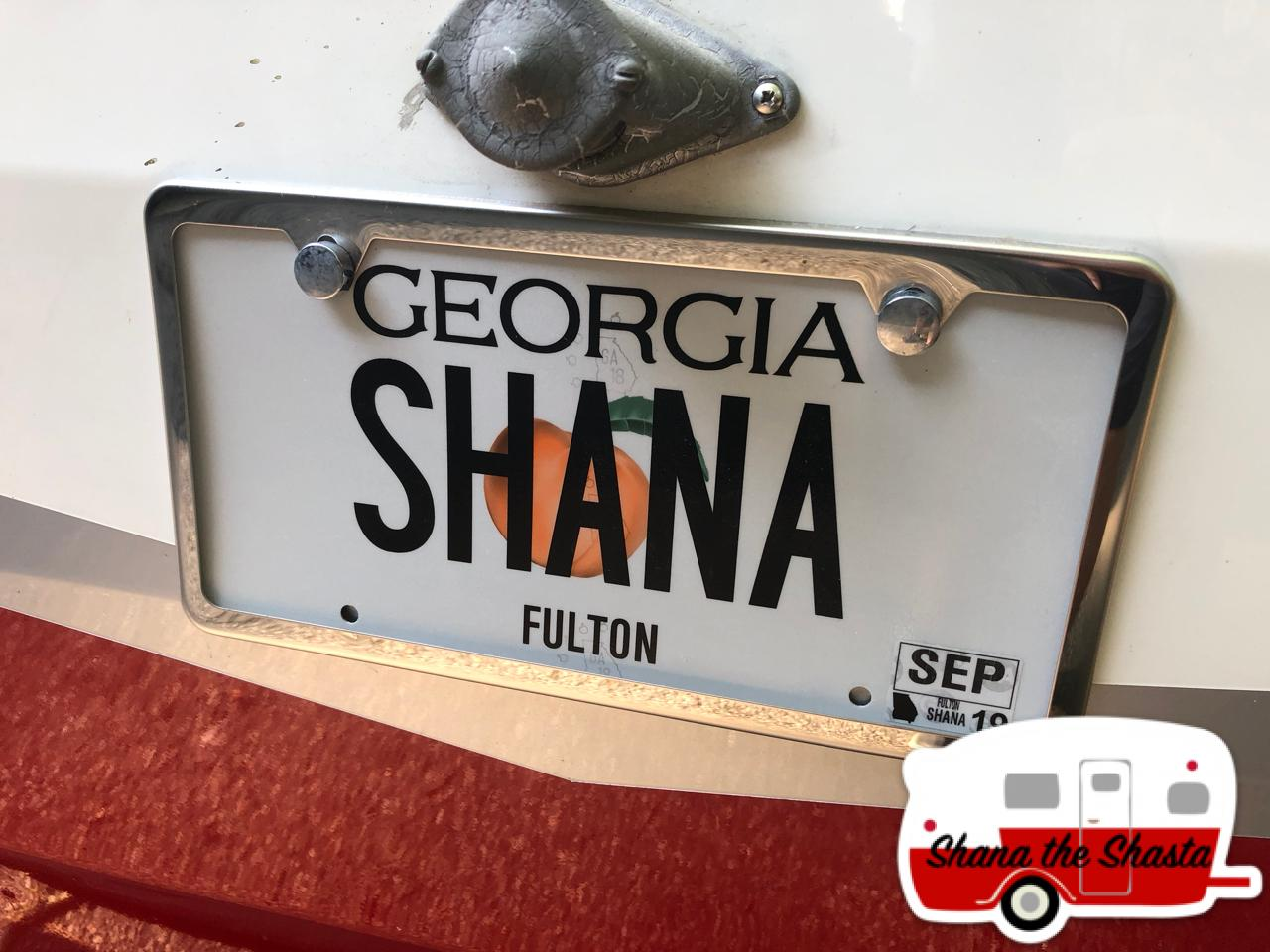 personalized license plate retro camper 2
