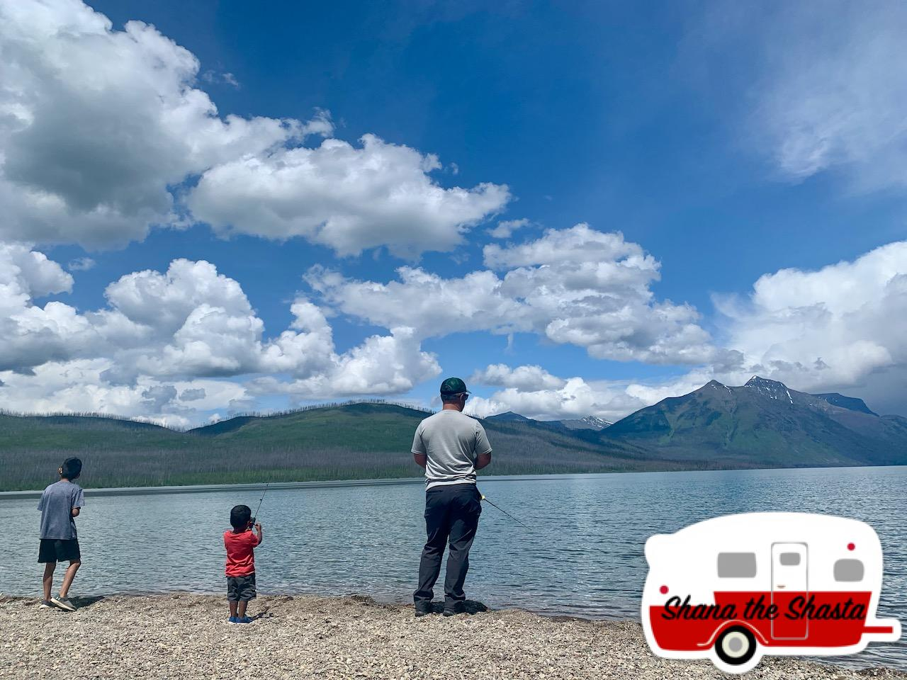 Boys-Fishing-in-McDonald-Lake-Glacier