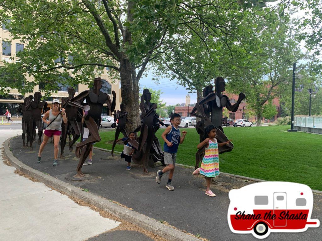 Downtown-Spokane-Scultped-Runners-Artwork