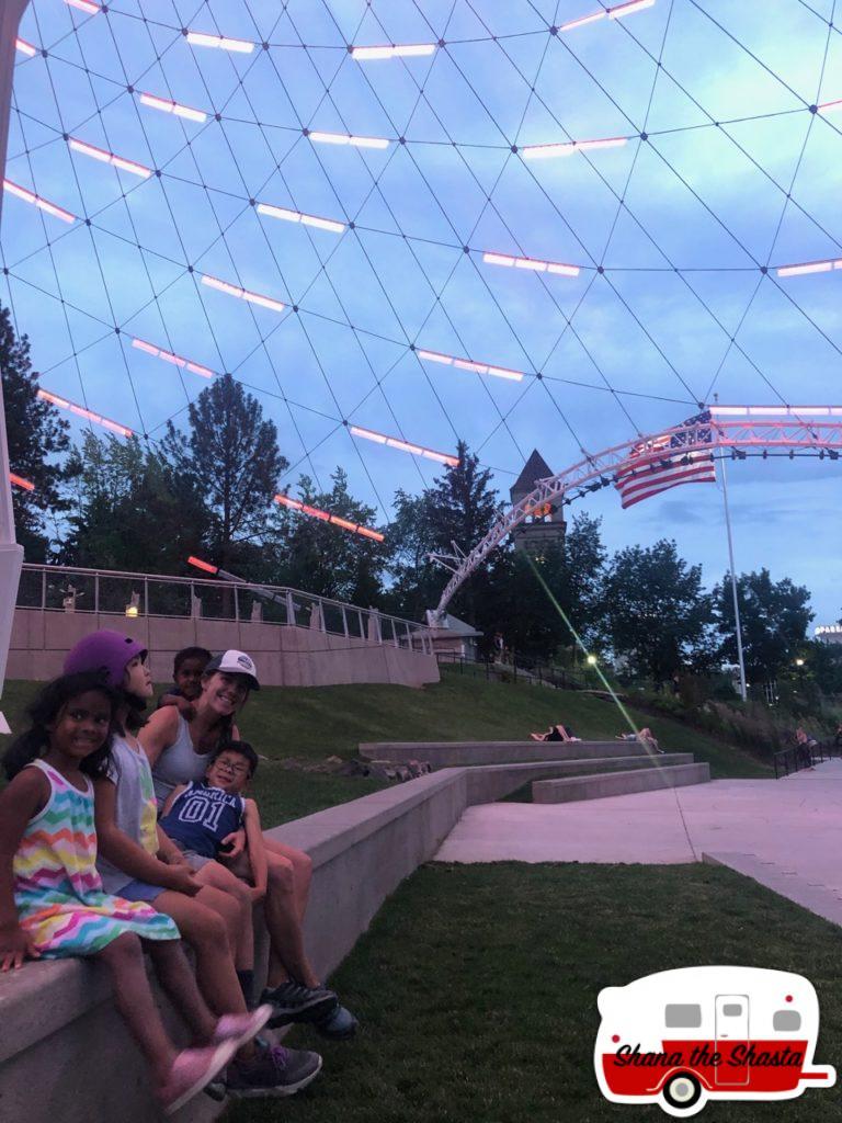 Enjoying-Spokane-Sunset-in-City-Center