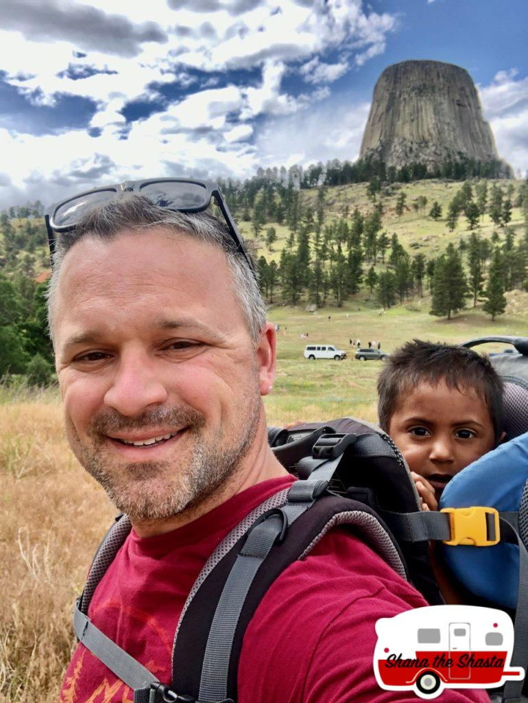 Father-Son-Hike-at-Devils-Tower