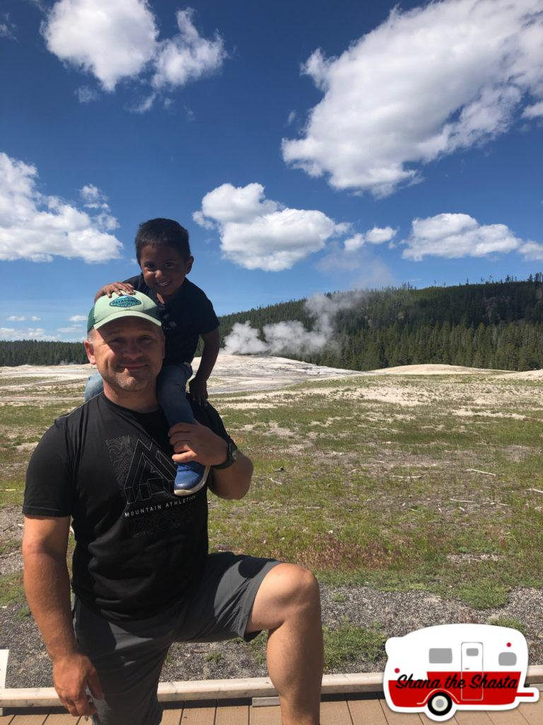 Father-Son-at-Old-Faithful