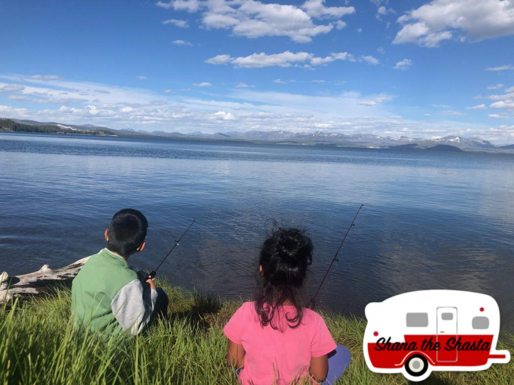 Fishing-from-Shore-Yellowstone-Lake