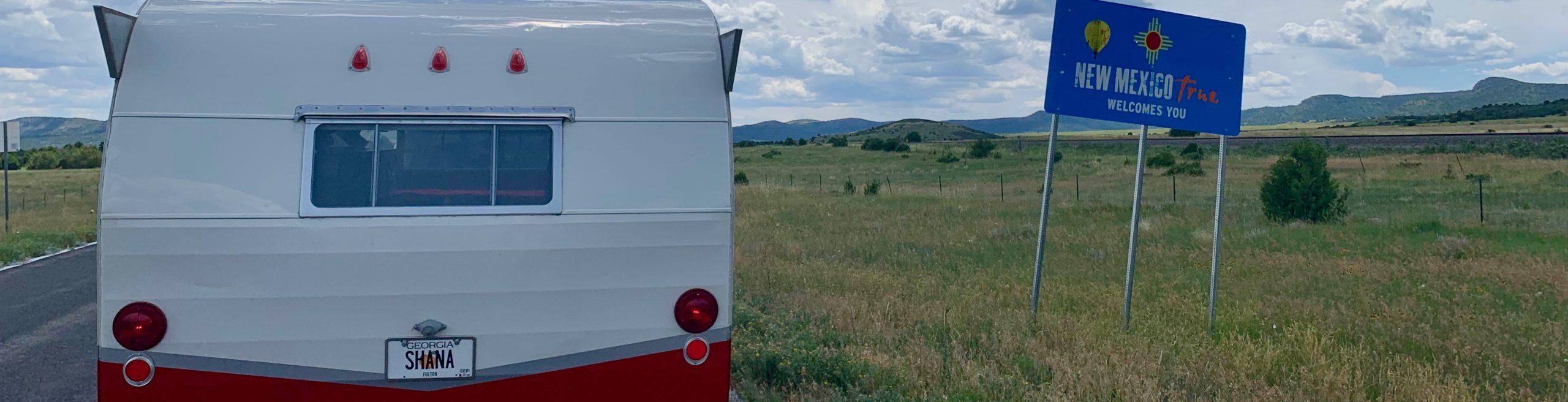 Retro Red Shasta Airflyte Deluxe Vintage Camper