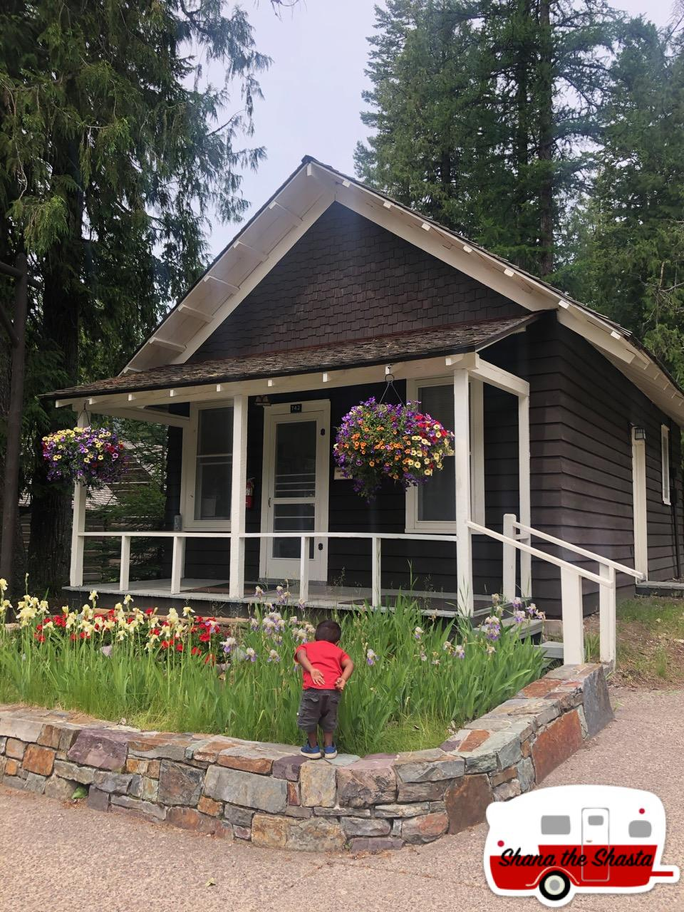 Smelling-Flowers-at-McDonald-Lodge-Cabin