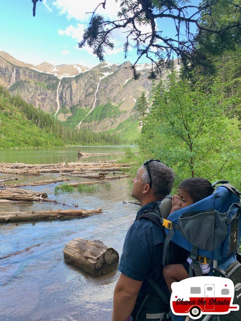 Soaking-in-Avalanche-Lake