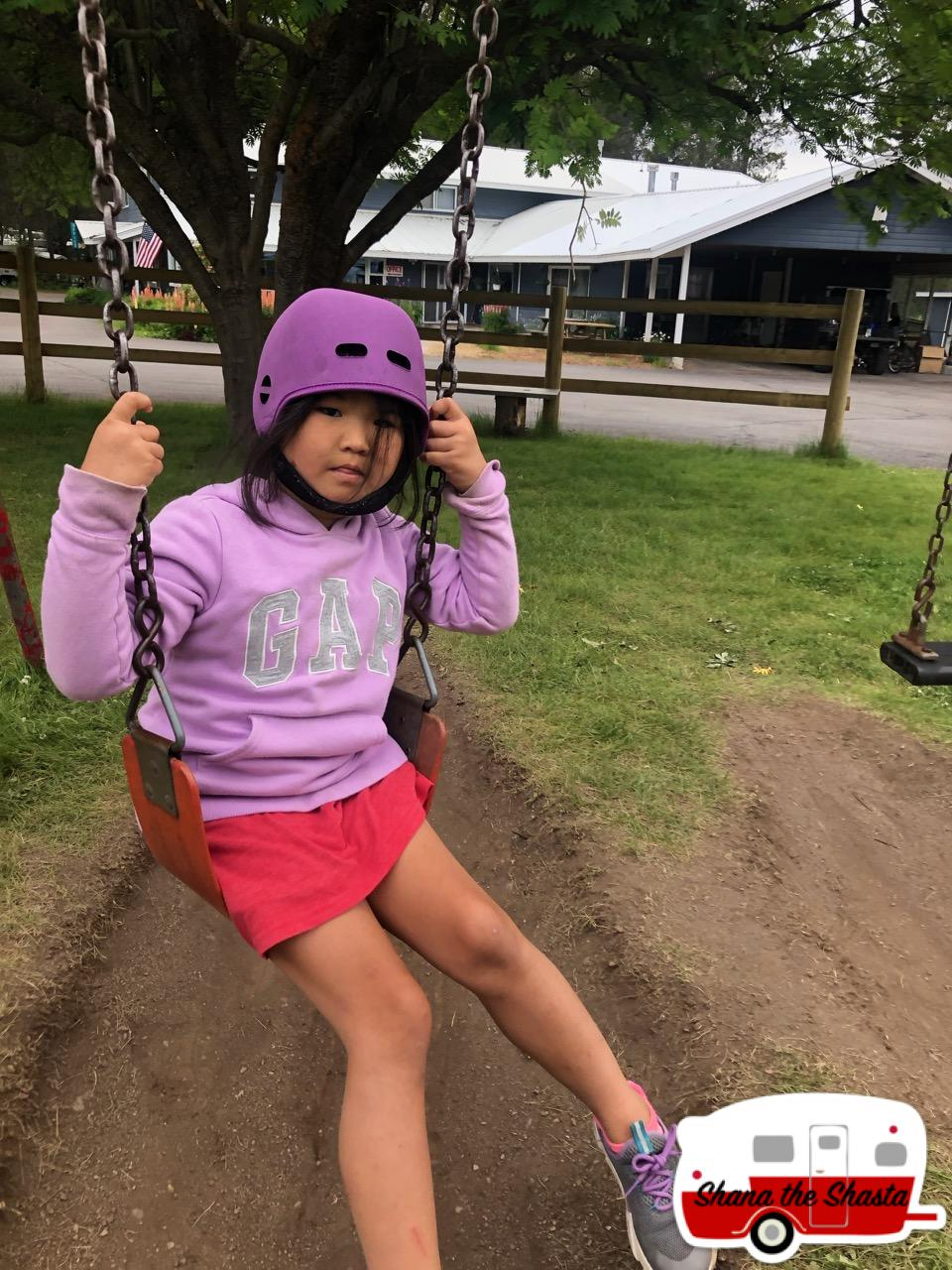 Swinging-at-Moose-Creek-Campground-at-Glacier