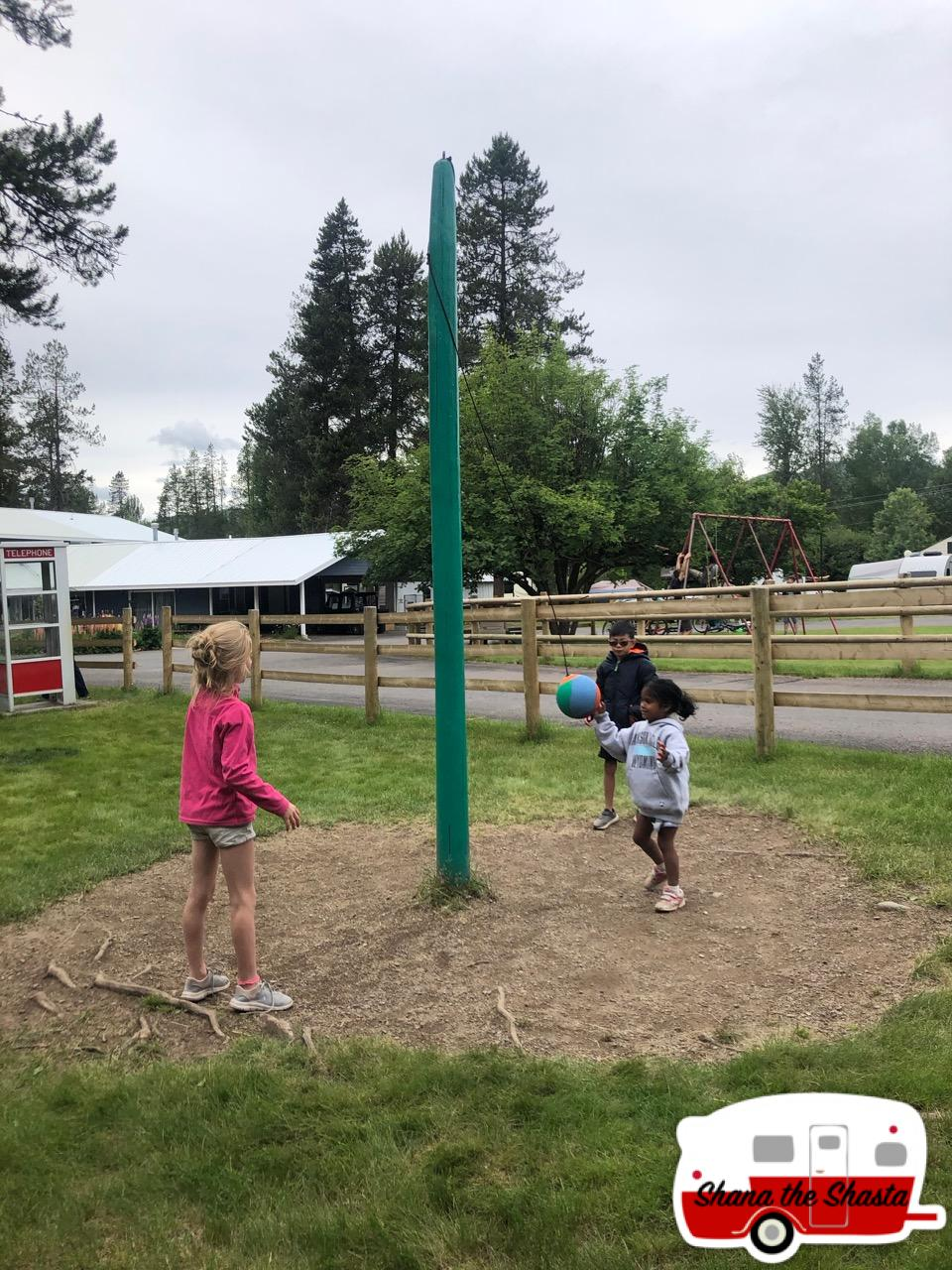 Tetherball-at-Moose-Creek-Campground
