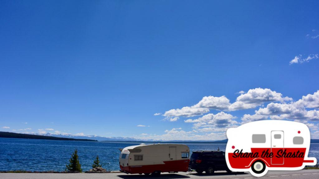 Vintage-Camper-at-Yellowstone-lake