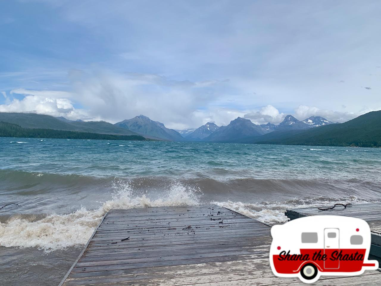 Wind-and-Waves-on-Lake-McDonald-in-Glacier