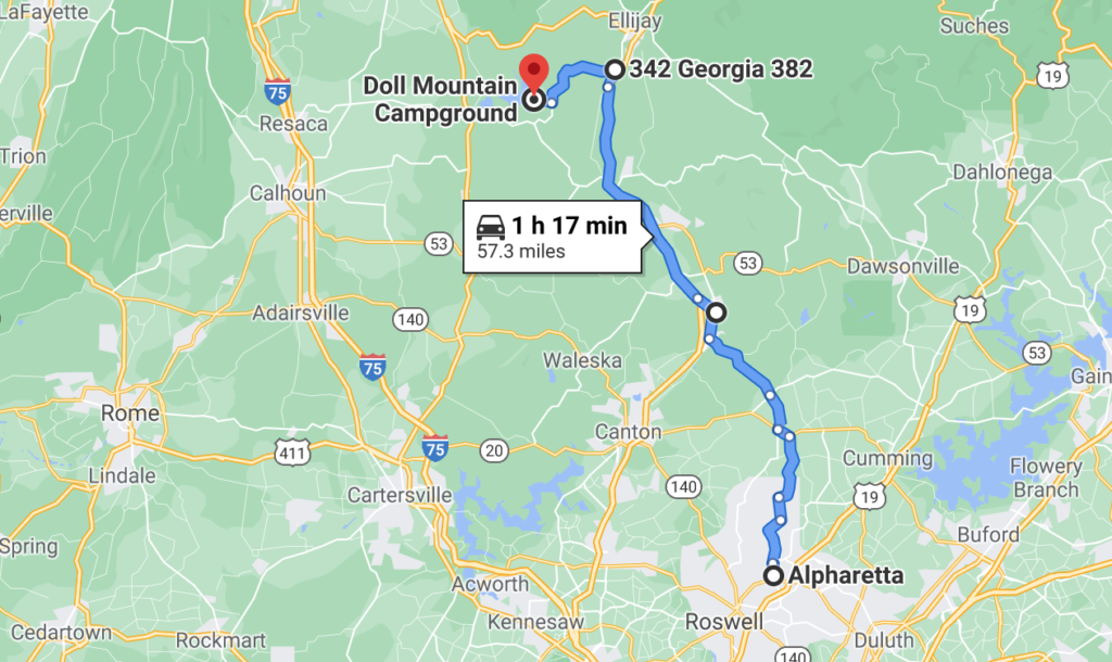 doll-mountain-campground-carters-lake-directions