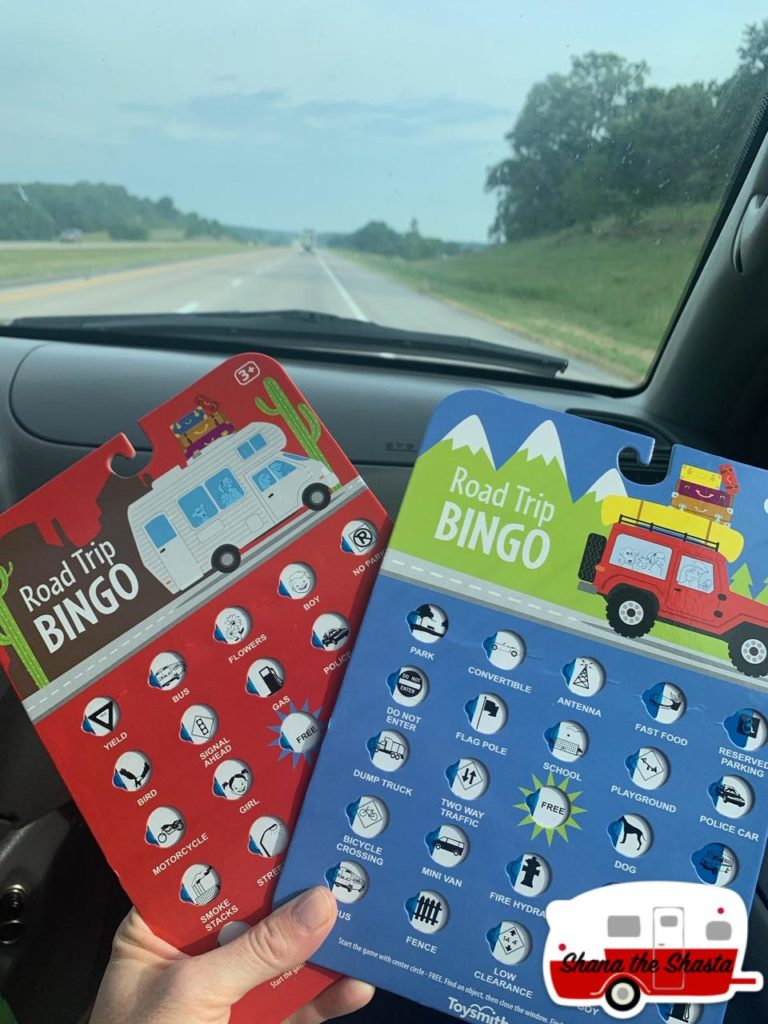 family trip bingo game