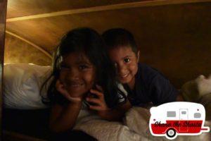 kids top bunk vintage camper