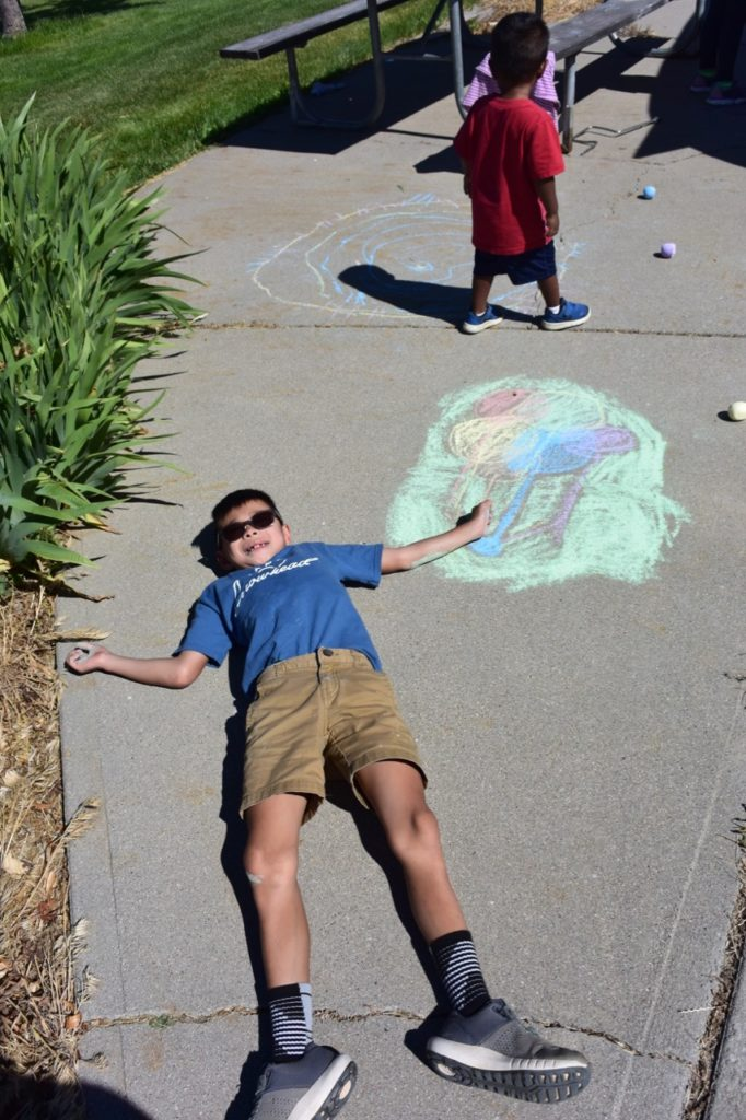robidoux sidewalk chalk balloon
